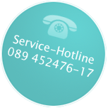 Service-Hotline 089 452476-17